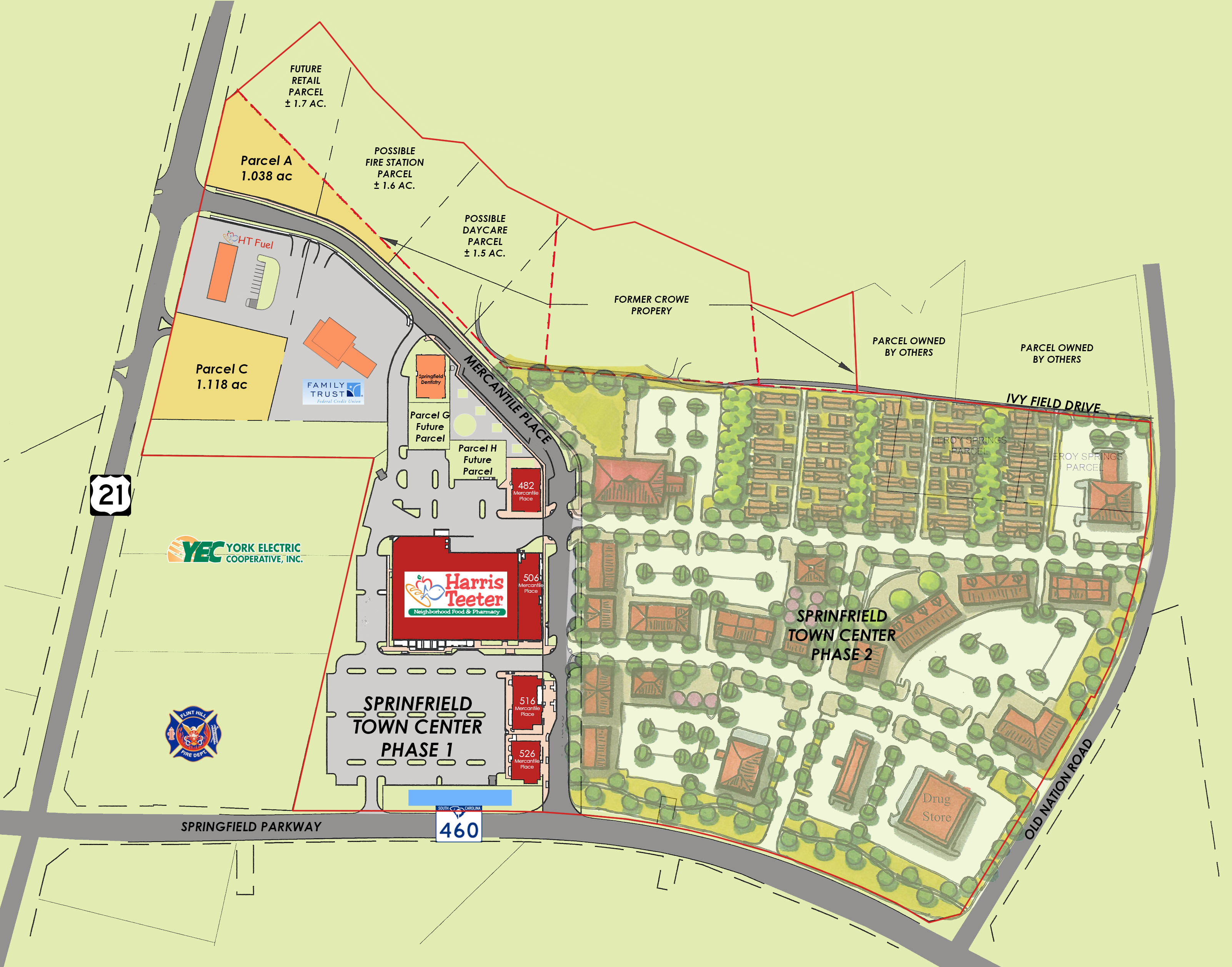 OUTPARCELS FOR SALE AT SPRINGFIELD TOWN CENTER